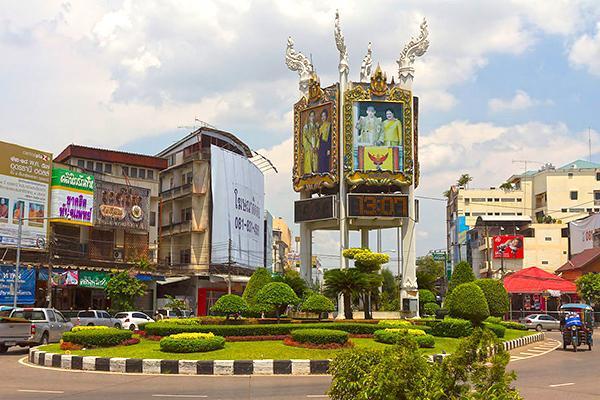 Clock Roundabout (Uhr mit Kreisverkehr), Udon Thani, Thailand