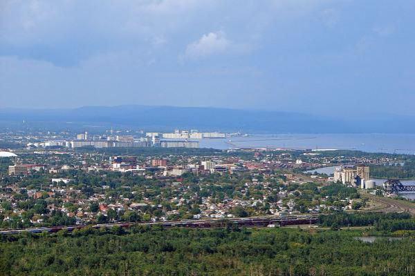 View over the skyline of Thunder Bay.