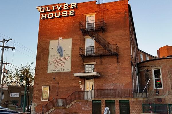 Toledo Ohio Oliver House Historic Building Maumee Bay Brewing Company