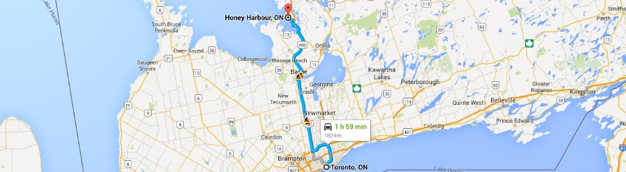 Toronto to Honey Harbor