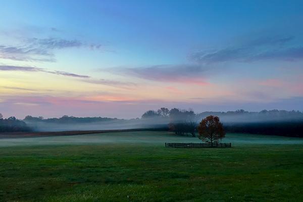 Princeton Battlefield Park at sunset, Trenton New Jersey