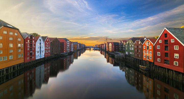 Trondheim's relationship with the sea is a close one.