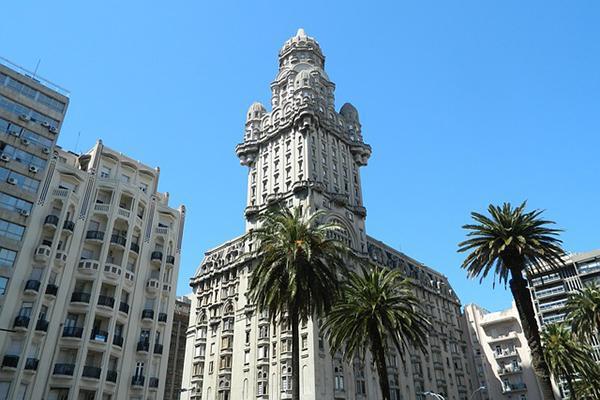 The ornate Palacio Salvo in central Montevideo, Uruguay