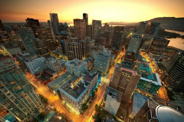 City Lights in downtown Vancouver.
