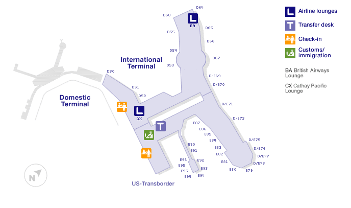 Vancouver airport terminal map