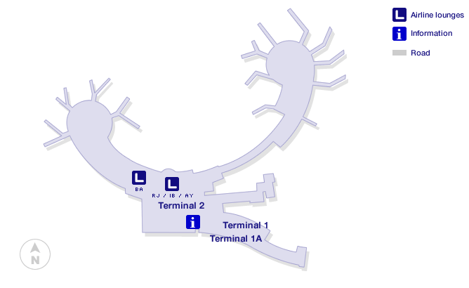 Vienna Airport Terminal Map
