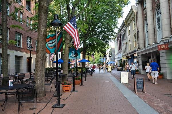 The Downtown Mall in Charlottesville is a charming spot.