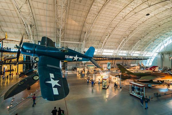 A cadre of historic airplanes at the Udvar-Hazy Center in Dulles, Virginia