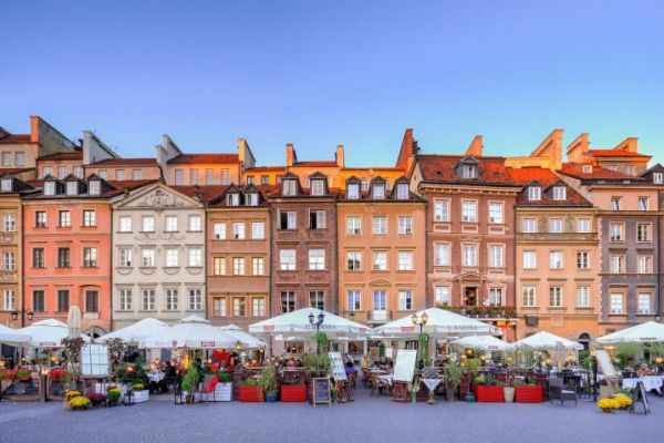 Warsaw is the sprawling capital of Poland.