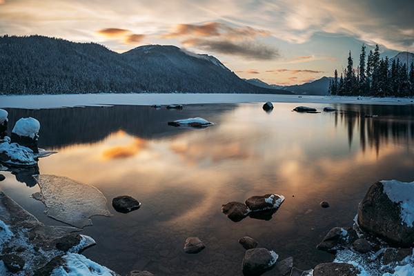 Wenatchee Lake, Wenatchee, Washington in Winter