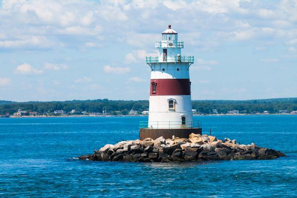 Lighthouse on the Long Island Sound outside of Westchester County, NY