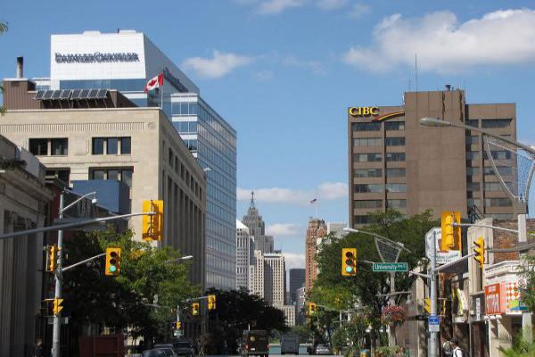 Explore the streets in downtown Windsor.