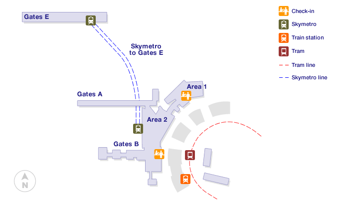 Zurich Airport Terminal Map