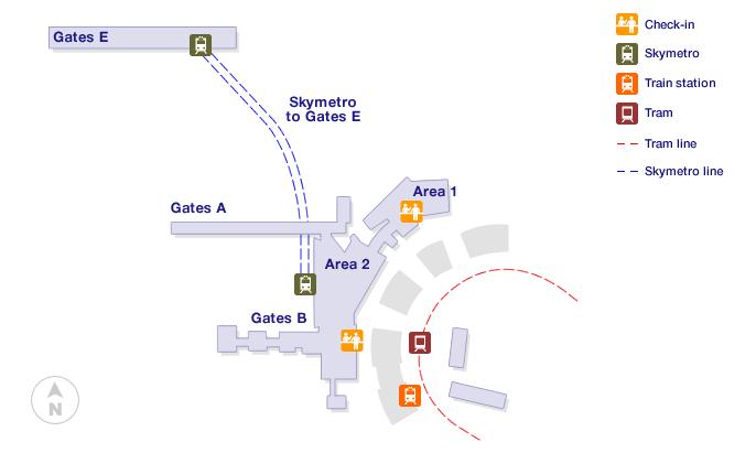 Zurich Airport Terminal Map
